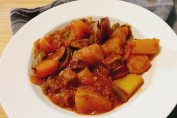 Beef & Chorizo Stew For Two